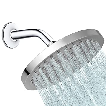 rain shower head wall mount. Round 8 Inch Rainfall Shower Head - Fixed Wall Or Ceiling Mounted Chrome Rain Showerhead, Mount
