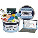 Sorry Survival Kit In A Can. Fun Keepsake I'm Sorry/Thinking of You Gift & Card Present All In One. Customise Your Can Colour (Blue/Navy)