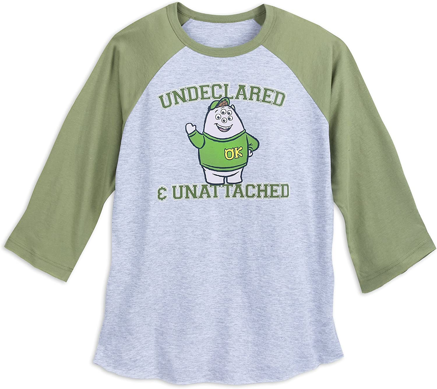Amazon Com Disney Squishy Undeclared Unattached T Shirt For Adults Monsters University Green Clothing
