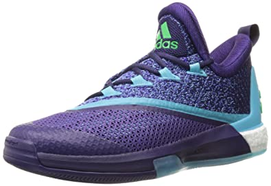 adidas Performance Mens Crazylight Boost 2 5 Low Basketball ShoesDark  Purple Blue Shock
