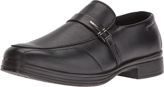Deer Stags Boys' Bold Loafer, Black, 4 M US Big Kid best boys' dress shoes