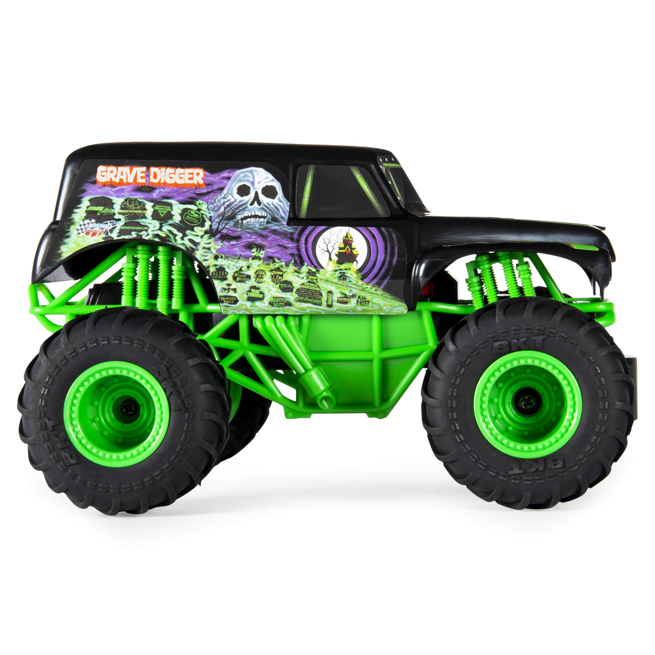 Monster Jam Official Grave Digger Remote Control Monster Truck, 1:24 Scale, 2.4 GHz, for Ages 4 and Up by Monster Jam (Image #4)