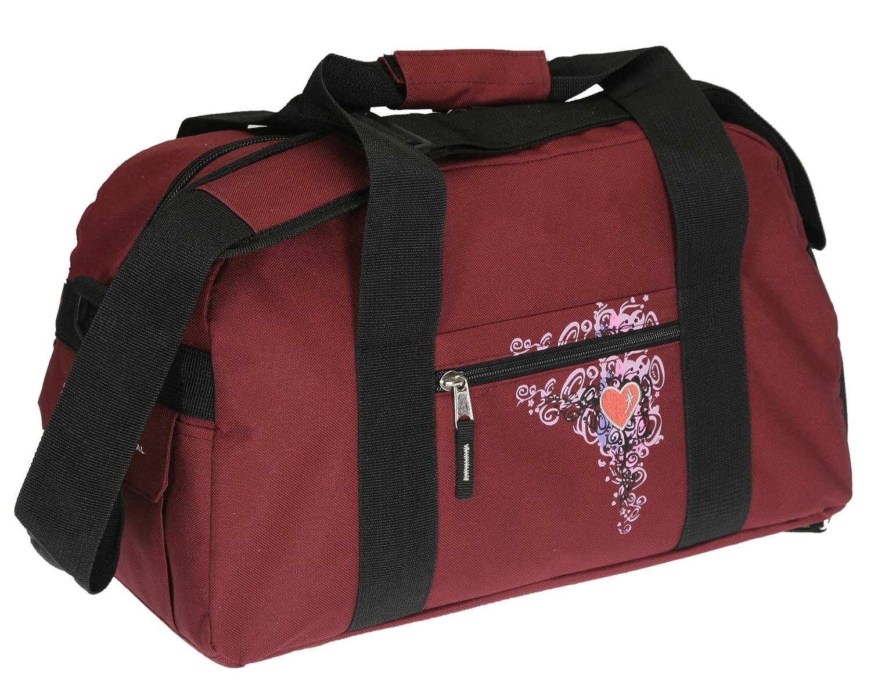 Sporttasche ELEPHANT HEART Tasche Schulsporttasche 47 cm Sport Bag Red-VIOLETT ELEPHANT WORLD TOURS