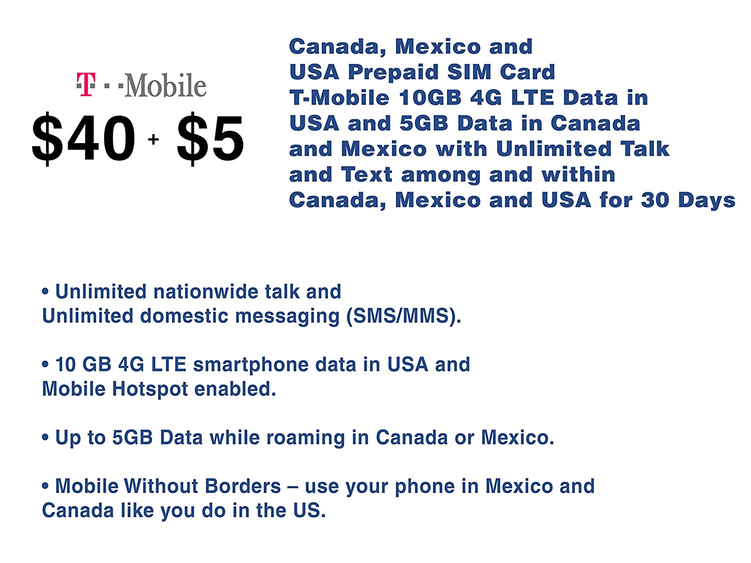 Madison : T mobile prepaid roaming in canada