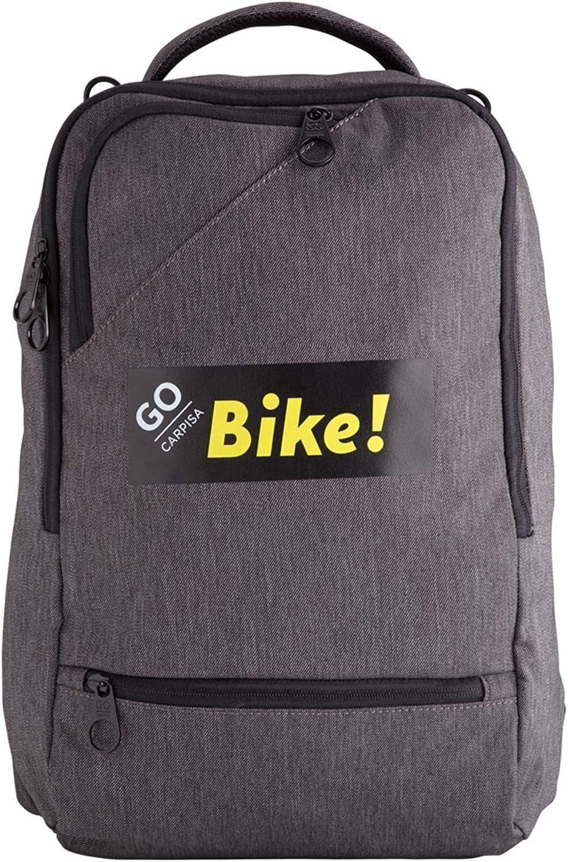 Carpisa Go 2 Bike Zaino In Denim Impermeabile Porta Pc Con