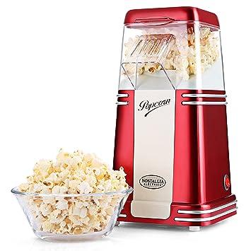 100Libre Para Hacer Aceite PopcornSaludableFácil MakerRojo Máquina Palomitas De Nostalgia LimpiarPopcorn Palomitero rCxeBWdo