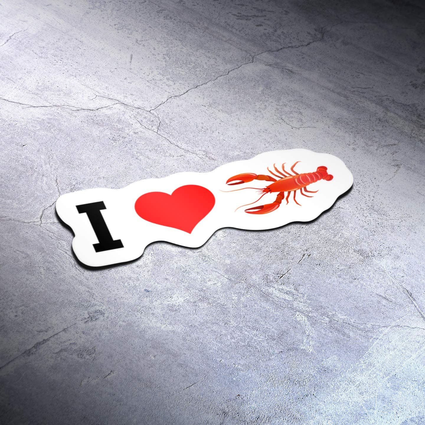 I Love Lobster Food (2 Pack) Vinyl Decal Sticker - Car Truck Van SUV Window Wall Cup Laptop - Two 5 Inch Decal - MKS1413