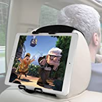Macally Headrest Tablet Holder for Car Back Seat - iPad Car Mount for Kids with Adjustable Strap - Backseat Universal…