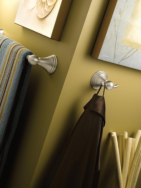 Moen DN8424BN Preston Collection 24-Inch Bathroom Single Towel Bar, Brushed Nickel - Bathroom Towel Racks -