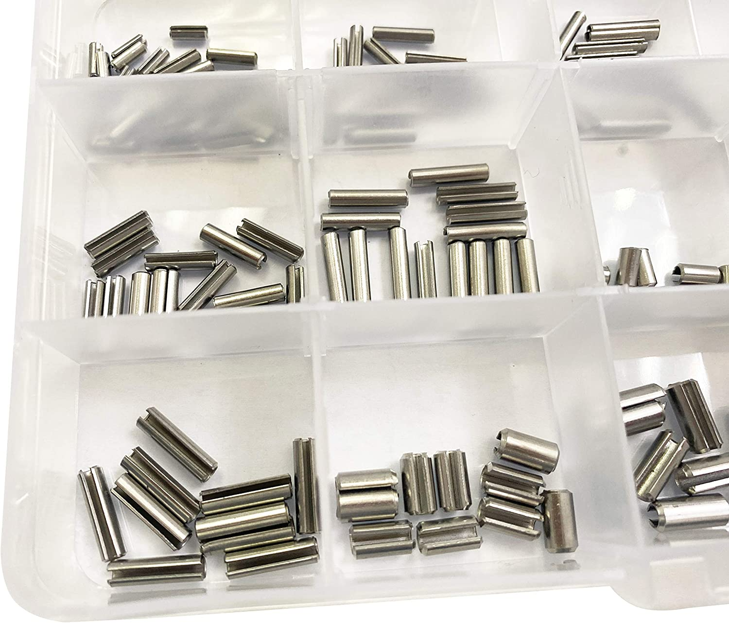 R HFS 200Pcs M2 M2.5 M3 M4 Slotted Spring Pin Assortment Kit 304 Stainless Steel