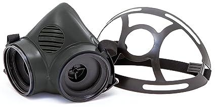 FIT MASK 87 - Máscara de seguridad buconasal TPE negra