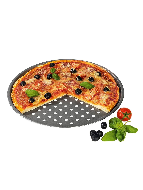 gelocht Profi-Set f/ür Pizza wie im Restaurant aus dem heimischen Ofen Pizzablech 2er-Set ca./33,02/cm Durchmesser