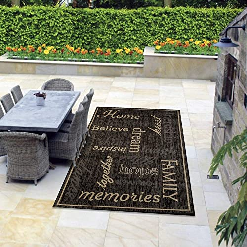 Msrugs Indoor Outdoor Area Rug 4×6, 8×10, 9×12 Flatweave Collection