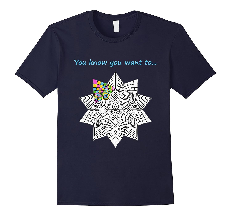 Adult Coloring Book Shirt-T-Shirt