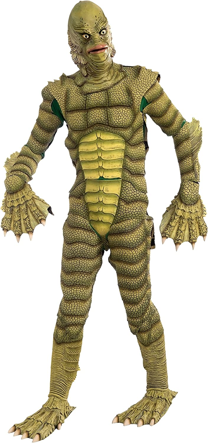 Amazon Com Forum Novelties Men S Universal Monsters Creature From The Black Lagoon Collector S Edition Costume Mask Green One Size Clothing