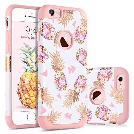 f27c101361b BENTOBEN iPhone 6S Plus Case Pineapple, iPhone 6 Plus Case 2 in 1 Hybrid  Pineapple