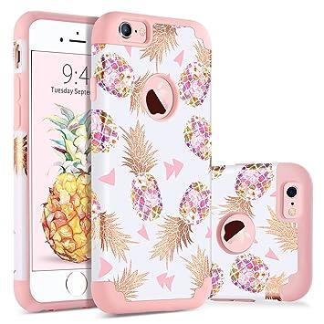 8112fd1ad5f BENTOBEN Fundas iPhone 6s Plus Piña, Funda iPhone 6 Plus, Ultra Delgada  Case Brillante