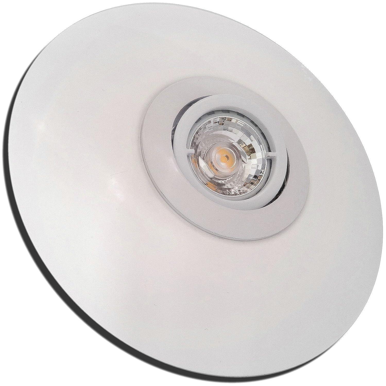 4 Stück MCOB Modul Einbaustrahler Big Lana 230 Volt 5 Watt Schwenkbar Weiß Warmweiß
