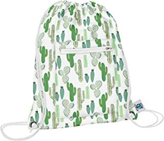 product image for Planet Wise Drawstring Sports Bag 2.0, Prickly Cactus, Made in the USA