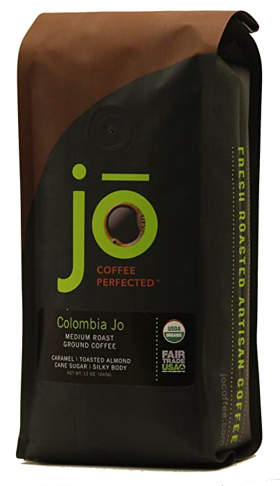 COLOMBIA JO: 12 oz, Organic Ground Colombian Coffee