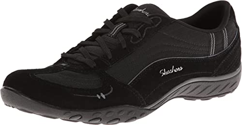 Details about Ladies Skechers 22459 Breathe Easy Just Relax Suede Lace Up Trainers