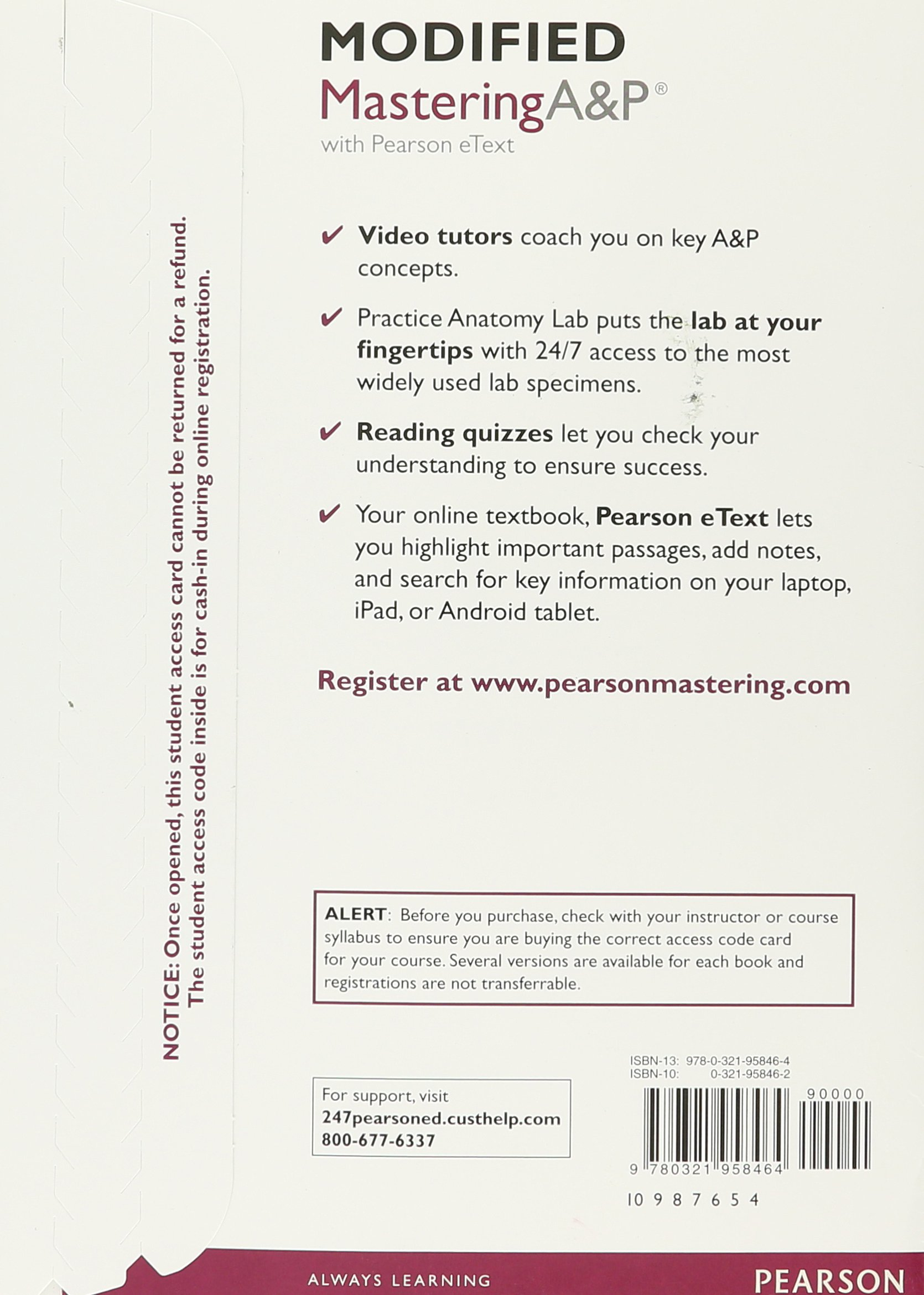 Modified Mastering A&P with Pearson eText - ValuePack Access Card ...