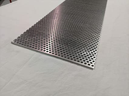 Amazon Com Perforated Aluminum Sheet Type 3003 H14 12 X12 125 1 8 Thick 1 4 Round Hole Industrial Scientific