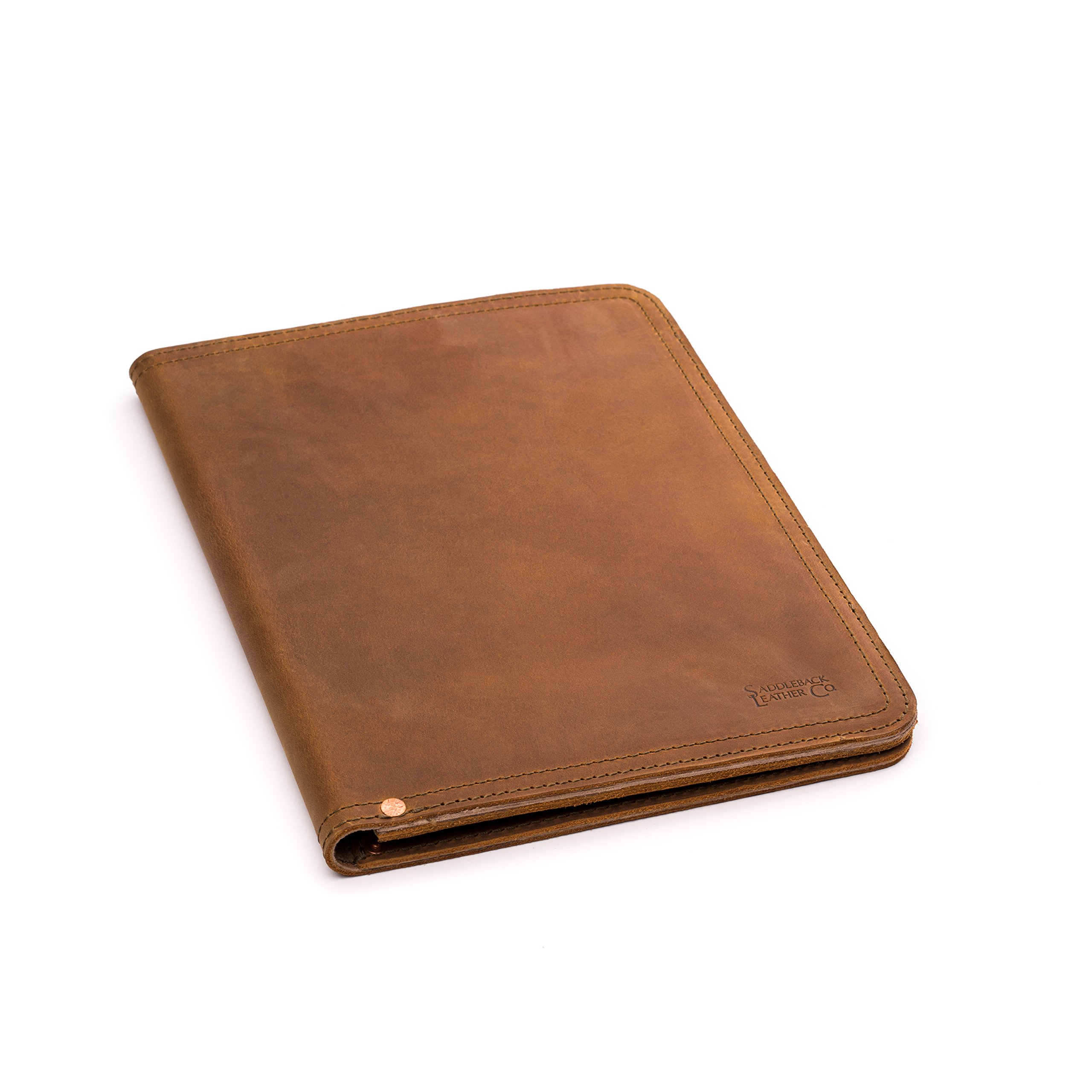 Saddleback Leather Medium Notepad Holder - The Best Leather Padfolio for Legal Pads, Tablets and Business Cards - 100 Year Warranty