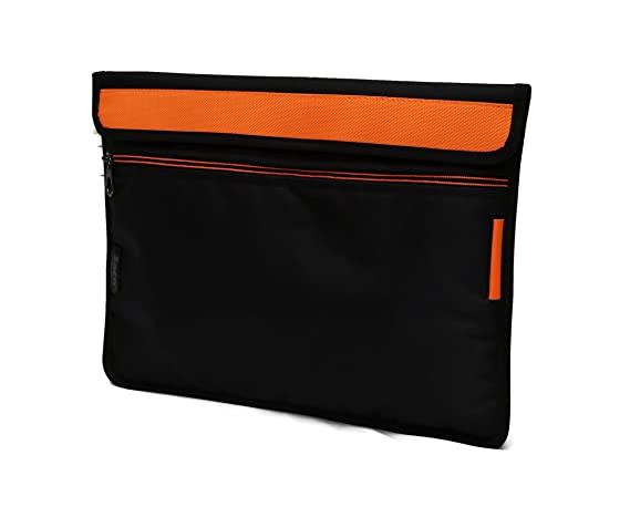 Saco Soft Durable Pouch for Apple 128  GB iPad Air  Orange Shockproof Tablet Sleeve Case Shoulder Bag Cover Carrying case with Adjustable Belt Bags,Cas
