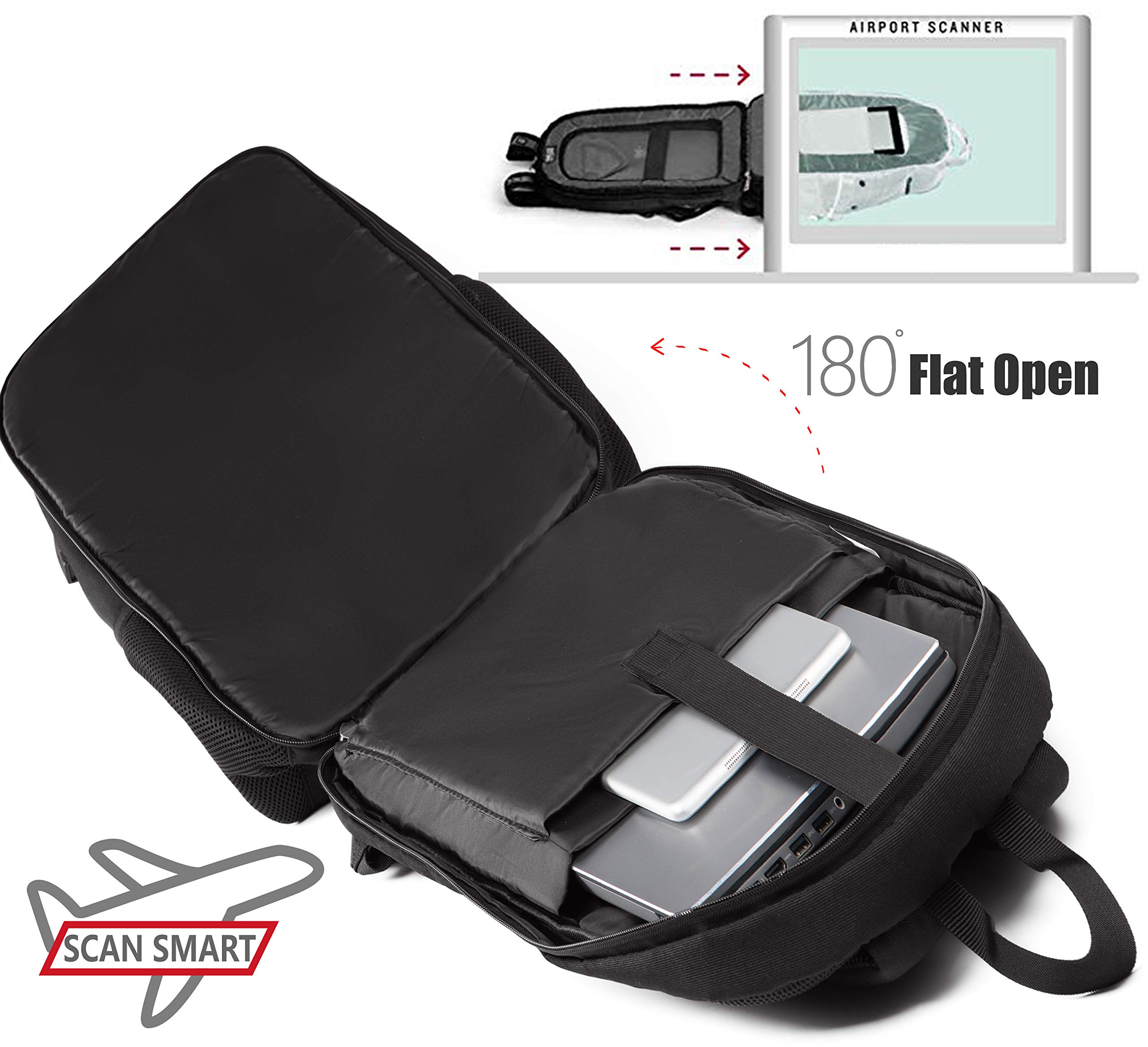 35L Travel Laptop Backpack TSA Friendly USB Charging Bag