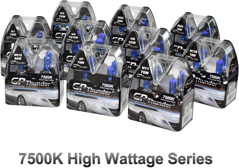 GP-Thunder II 7500K 9005+9006 Xenon Quartz Bulb 70W 80W Higher Warrage 2 Pairs