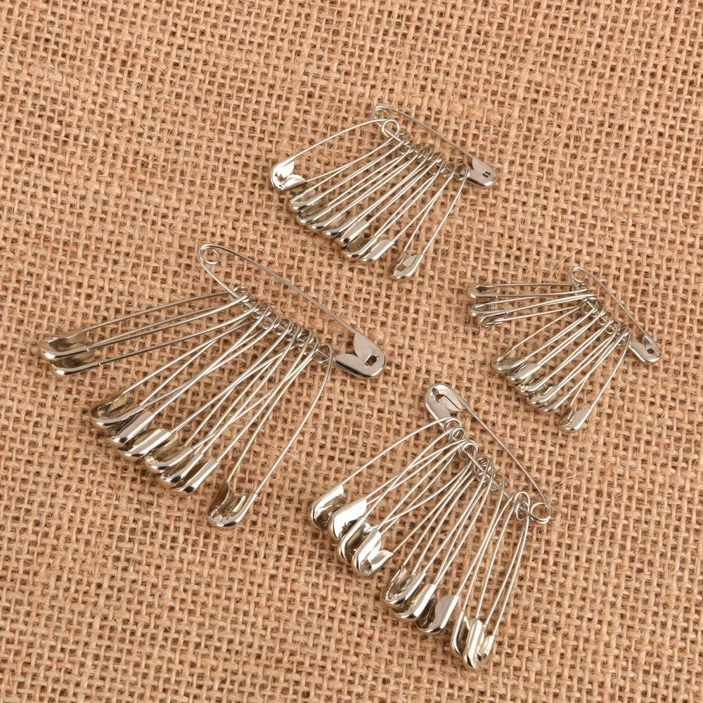 craft safety pins 32 mm ewtshop 160 pieces safety pins 4 different sizes quilting pins safety pin in 45 mm for sewing 28 mm made of metal 38 mm
