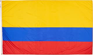 product image for Annin Flagmakers Model 191770 Colombia Flag Nylon SolarGuard NYL-Glo, 5x8 ft, 100% Made in USA to Official United Nations Design Specifications