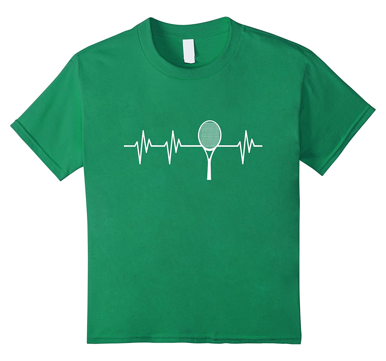 unisex child Racquet Heartbeat Funny Tennis-Teeae