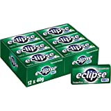 ECLIPSE Sugar Free Spearmint Mints, 40g Tin (Pack of 12), 12 x 40 g