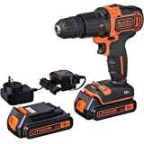 BLACK+DECKER BDCHD18KB-XE 18V Lithium-ion 2 Gear Hammer Drill + 400mA Charger + 2 Batteries + Kitbox
