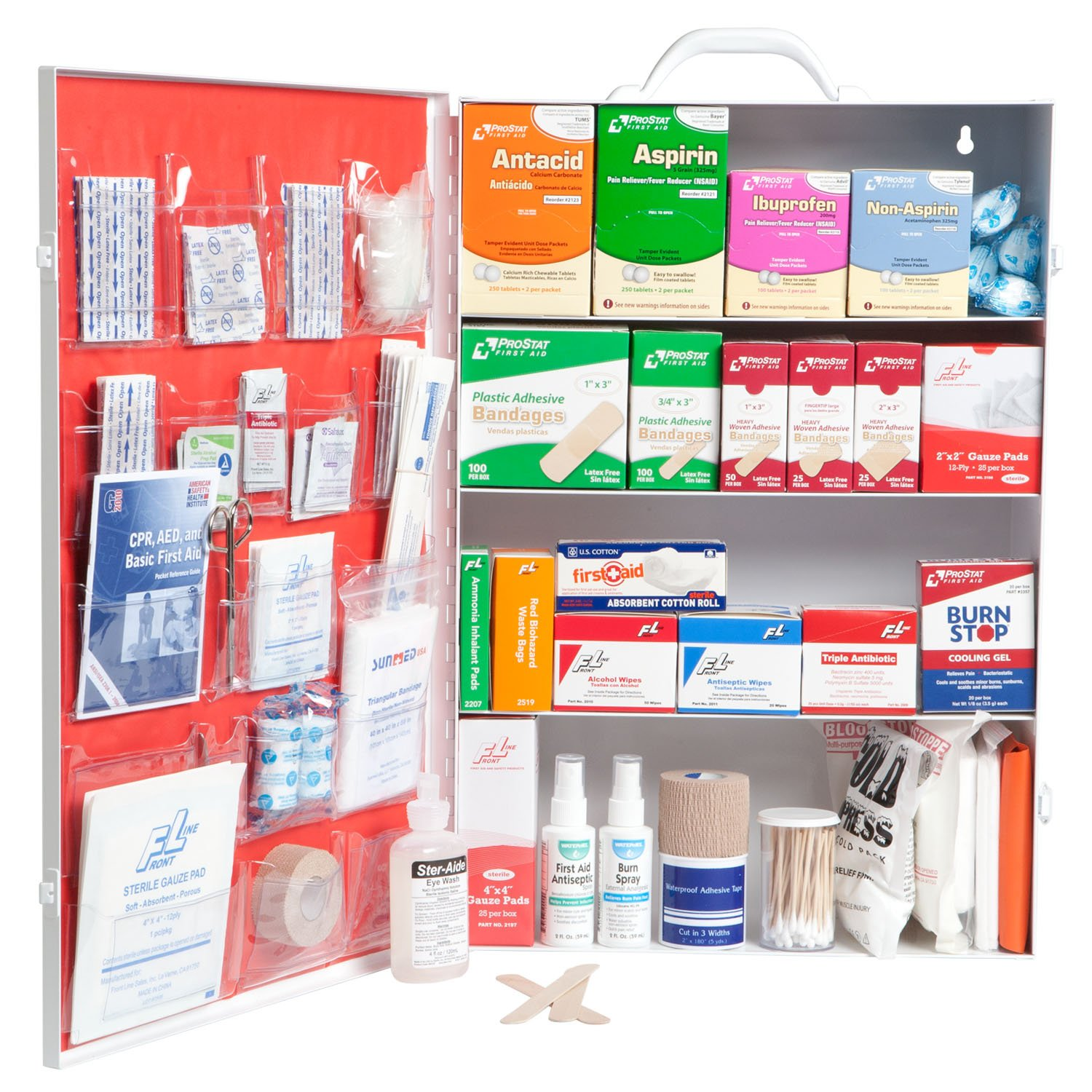 ProStat First Aid 0614 1508 Piece First Aid Kit with 4 Shelf Cabinet