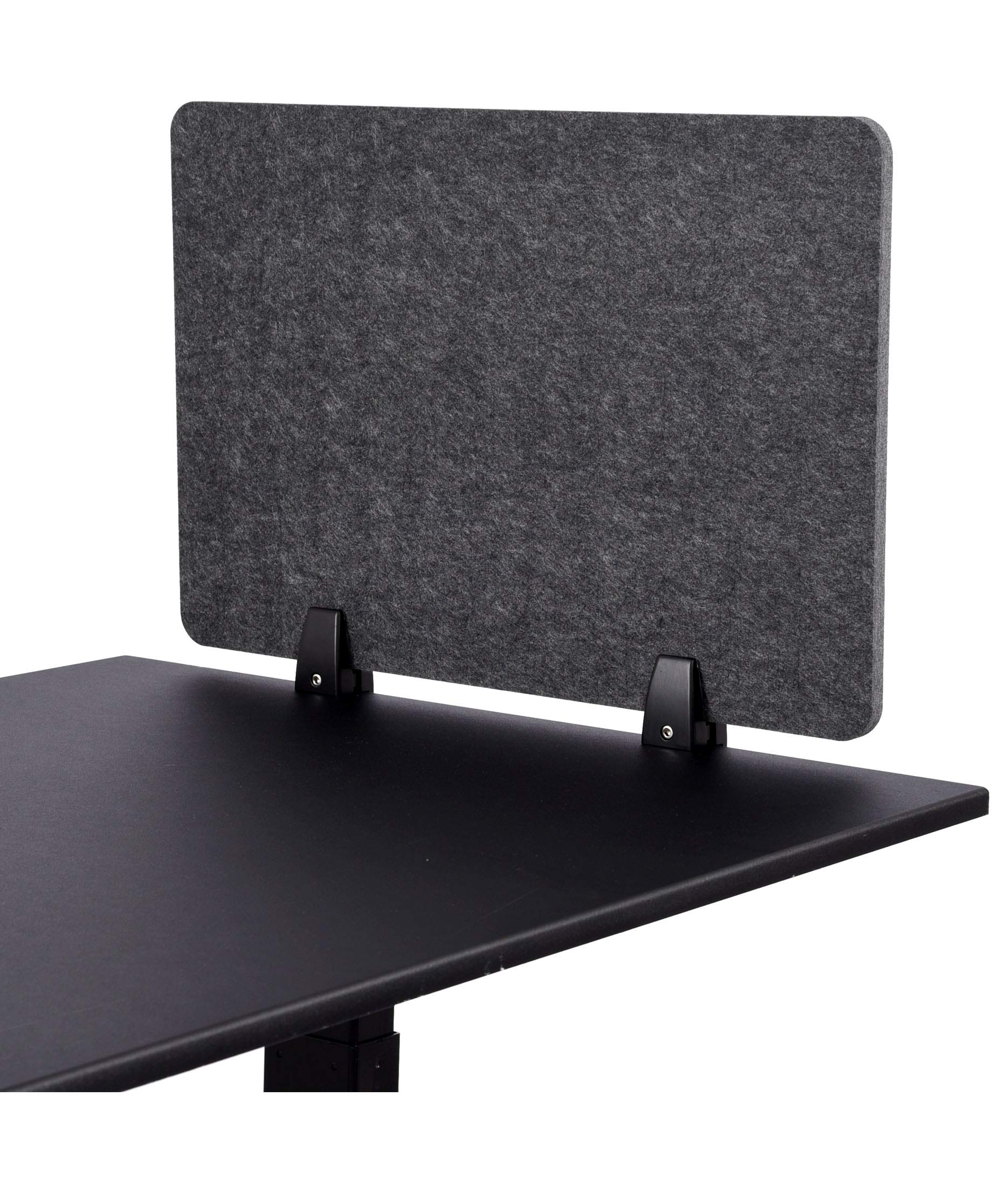 ReFocus Raw Clamp-On Acoustic Desk Divider - Reduce Noise and Visual Distractions with This Lightweight Desk Mounted Privacy Panel (Anthracite Gray, 24'' X 16'') by Stand Up Desk Store