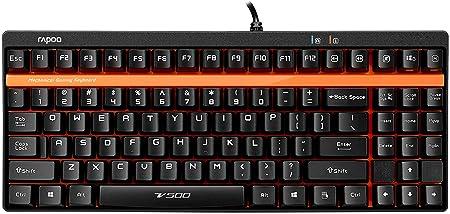 VPRO V500 Teclado mecánico para Videojuegos, Color Negro