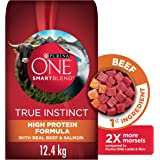 Purina ONE Smartblend True Instinct Natural Dry Dog Food, Beef & Salmon 12.4kg Bag
