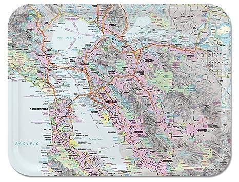 Amazon.com | San Francisco Bay Area Street Map / TV Dinner Tray ...