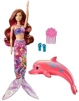 Amazon Es Barbie Aventura De Los Delfines Muneca Sirena Magica Con