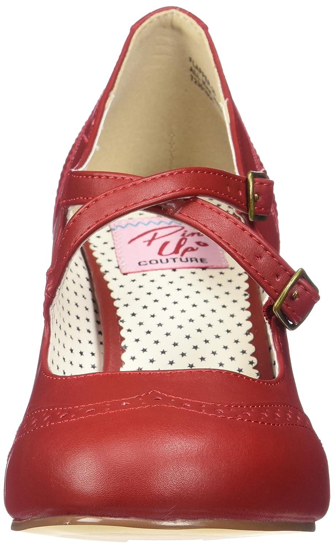 Pinup Couture Damen Flapper-35 Leder) Pumps Rot (ROT Faux Leder) Flapper-35 9ca4b0
