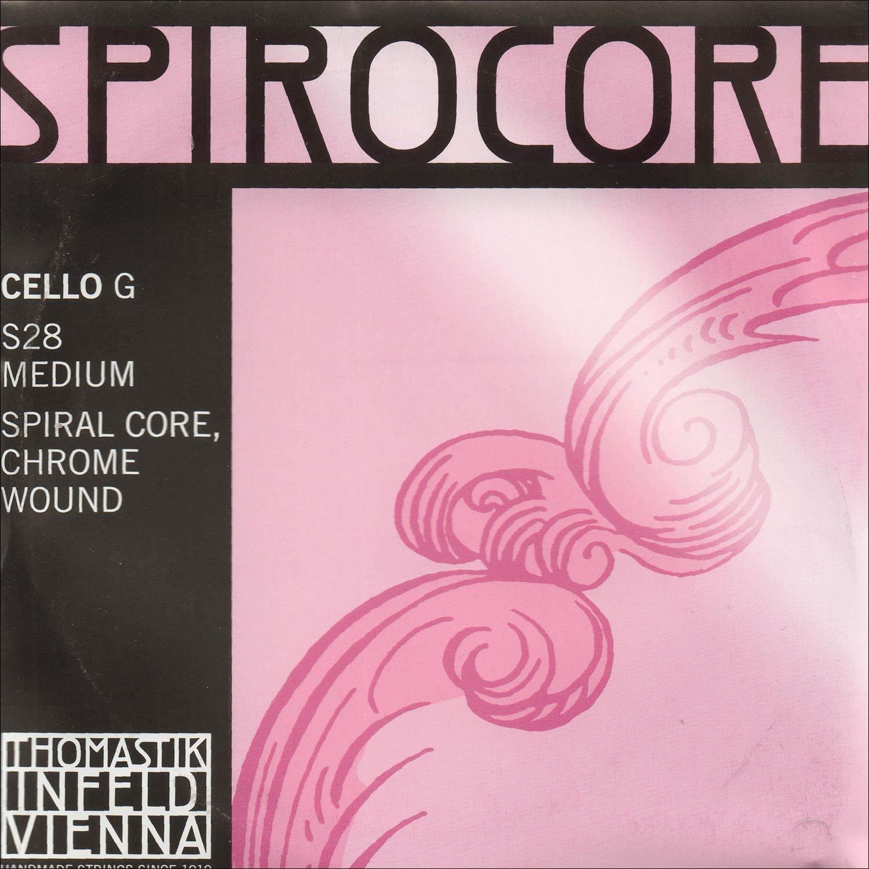 Thomastik-Infeld Spirocore 4/4 Cello G String - Chromesteel/Steel - Medium Gauge Tho-4086