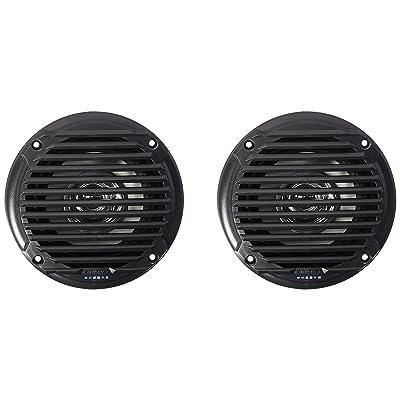 "Jensen MS5006BR Black 5.25"" Dual Cone Waterproof Speakers: Automotive"