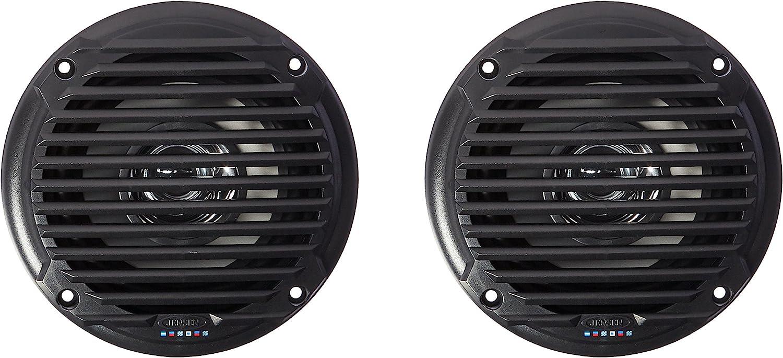 Jensen MS5006BR Black 5.25 Dual Cone Waterproof Speakers