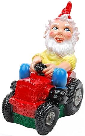 Nain sur le tracteur, de 30 cm, Nain de jardin en plastique ...
