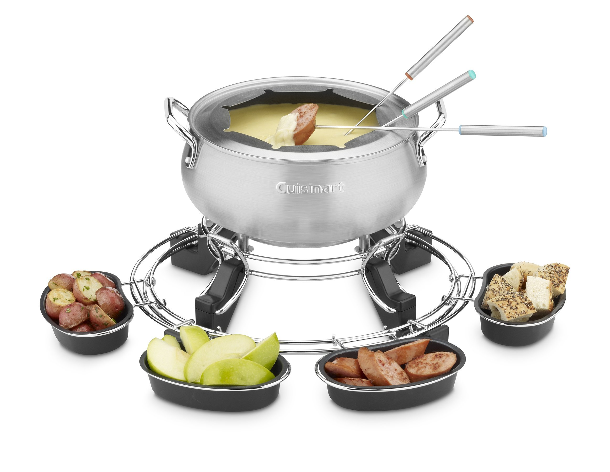 Cuisinart CFO-1000 Lazy Susan Electric Fondue Maker (Certified Refurbished)