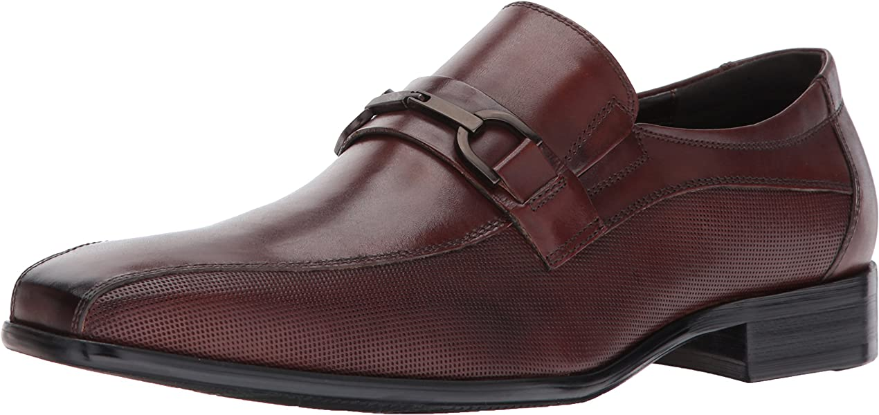 26c18520facf Reaction Kenneth Cole Perforated Slip-on Dress Loafer Cognac