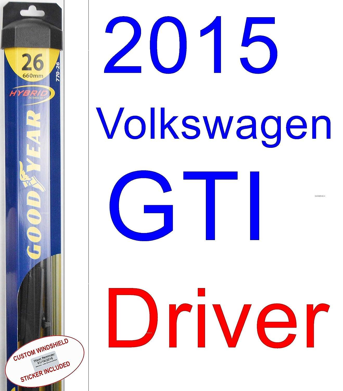 Amazon.com: 2015 Volkswagen GTI Wiper Blade (Driver) (Goodyear Wiper Blades-Hybrid): Automotive